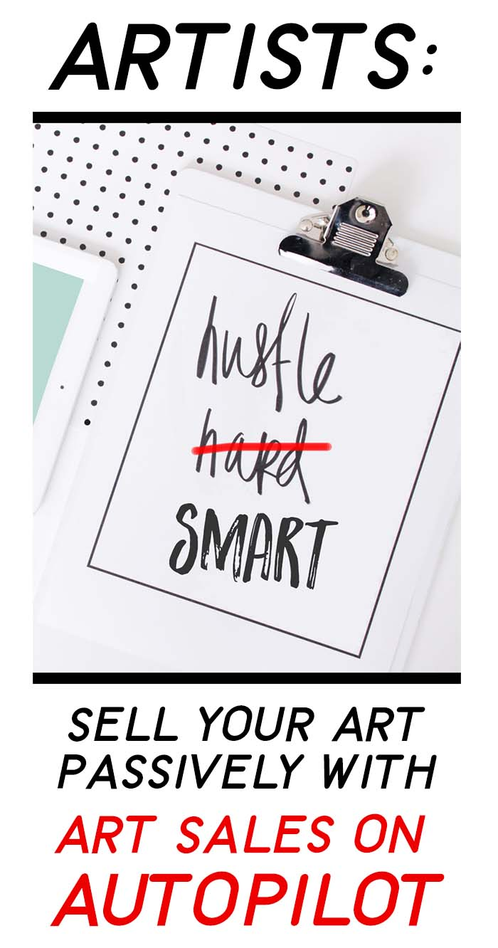 Sell art online: Get the course, Art Sales on Autopilot and Start to Sell Your Art Passively Online! #sellartonline #passiveincome