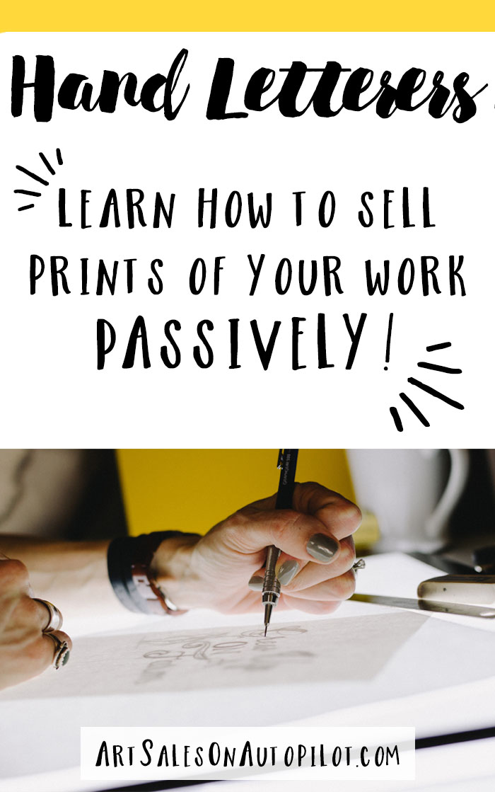 Do you like to hand-letter? Check out this course and Learn How to Sell Prints of Your Work Passively! #handletterer #handlettering #handlettered #sellartonline