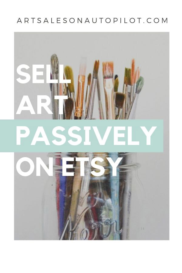 "This (free - for a limited time) course makes selling art on Etsy so easy! It's called ""Art Sales on Autopilot How to Sell Your Art Online 100% Passively"" and it's free for new students! #sellartonline #howtosellartonline #passiveincome"