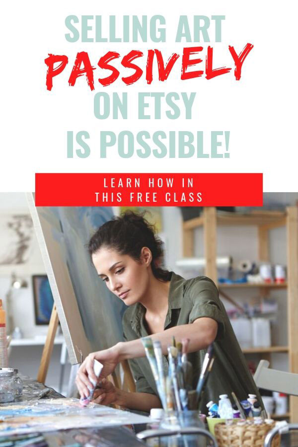 "Learn how to sell your art prints passively on Etsy with this FREE online course called ""Art Sales on Autopilot: How to Sell Your Art Online 100% Passively"" It's free only for a limited time for new students, so check it out now! #sellartonline #howtosellartonline #passiveincome #howtosellartonEtsy"