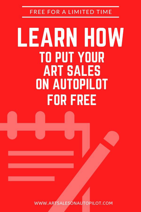 "Learn how to sell your art passively online with this FREE course called ""Art Sales on Autopilot: How to Sell Your Art Online 100% Passively"" and it's free for a limited time for new students, so check it out now! #sellartonline #howtosellartonline #passiveincome"